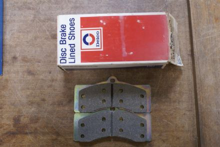 1965-1982C2 C3 Corvette,Front Original Riveted Brake Pads Set of 4(NCRS Correct),GM 2621609,New